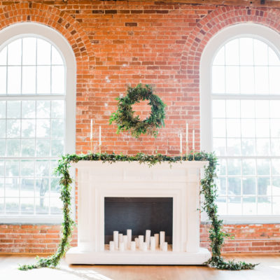ceremony decor, fireplace rental, candles, greenery, florist, north carolina florist, north carolina floral design, north carolina furniture rental, north carolina party rentals, north carolina wedding designer, north carolina party design